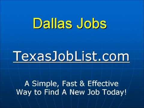 Dallas Jobs - An Easy Way to Find Work