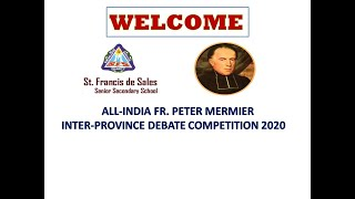 All-India Fr. Peter Mermier Inter-Province Debate 2020 | Promo Video |