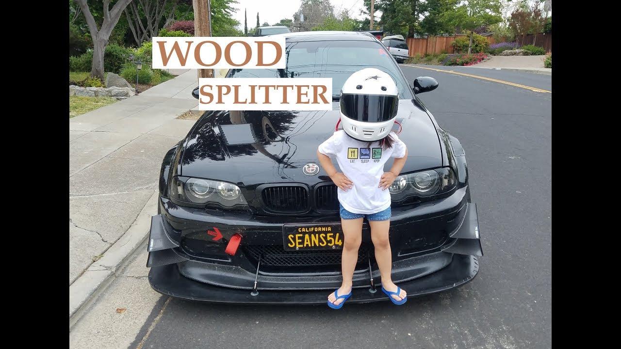 $50 Front Splitter Built From Wood - Track Aero