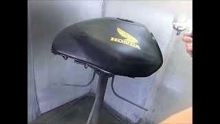 バイクタンクの鏡面クリアー塗装の仕方