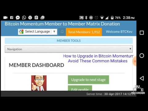 How to Upgrade in Bitcoin Momentum - Avoid These Common Mist