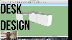 Designing a desk in SketchUp! (Beginners Guide)