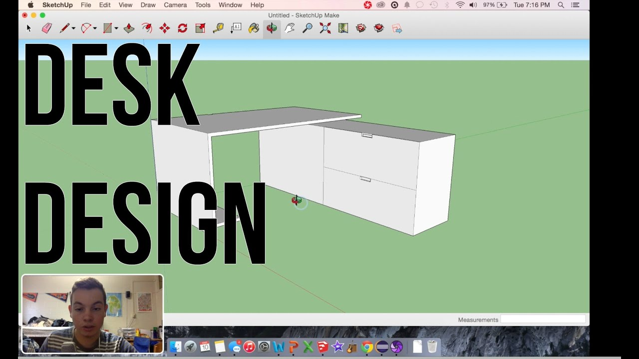 Designing A Desk In Sketchup Beginners Guide