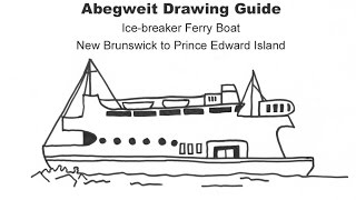 How to Draw A Ferry Boat