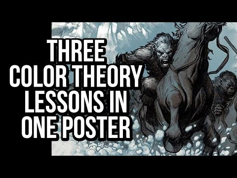 3 Color Theory Lessons in One Poster - Photoshop comic coloring tutorial