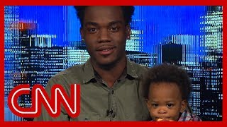 Comedian DJ Pryor tells CNN's Chris Cuomo how the viral video of him talking with his 19-month-old son was created. #CNN #News.