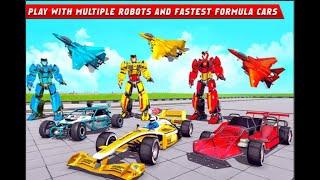 Formula Car Robot Games - Air Jet Robot Transform Game Inferno #2 screenshot 2