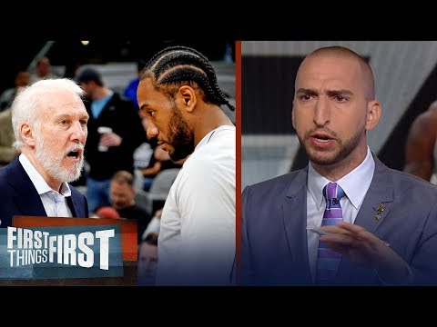 Nick Wright on the San Antonio Spurs hesitancy to trade Kawhi Leonard | NBA | FIRST THINGS FIRST
