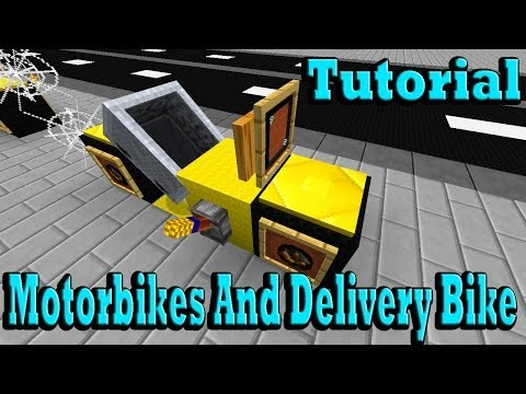 Minecraft Tutorial Of Motorbikes And Delivery Bike