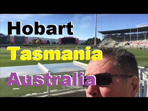 Bellerive Oval in Hobart [Tasmania] at the very bottom of Australia [Blundstone Arena] [Rye Grass]