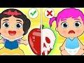 BABY LILY 🍎 Dresses up as Disney Princess Snow White | Educational Cartoons