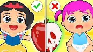 Baby Lily 🍎 Dresses Up As Princess Snow White | Educational Cartoons