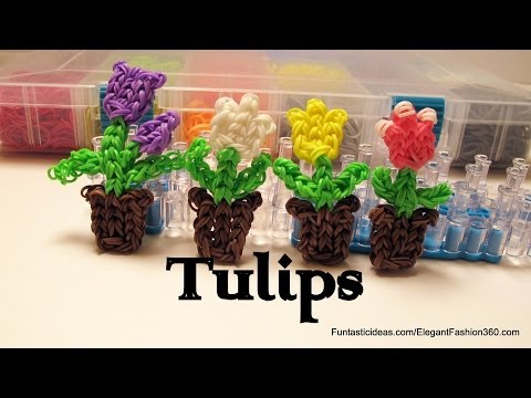 rainbow-loom-tulip-flowers-in-the-pot-charm---how-to---mother's-day-gift-idea