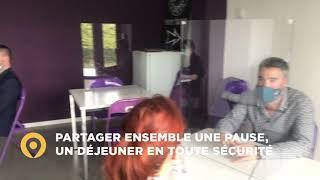 Séparateur de table rectangle en plexiglas - MODULO vidéo