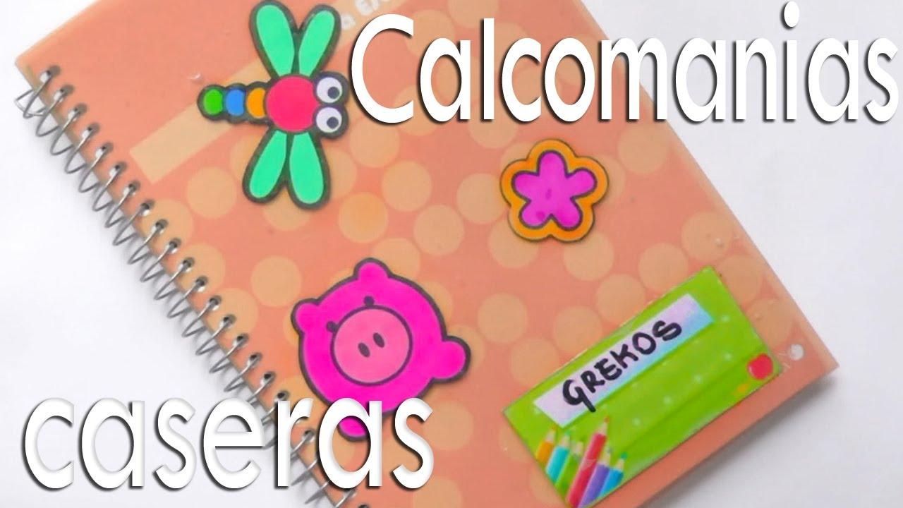 Pegatinas calcomanias caseras para decorar cuadernos for Decoraciones para hojas