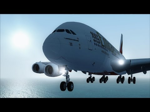 FSX A380 Zurich to Dubai [AMAZING REALISM+EXTREME GRAPHICS]