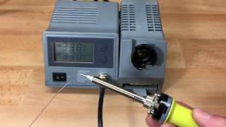 SOLDERING STATION WITH LCD & CERAMIC HEATER - 48 W - 150-450 °C