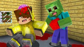 ISMETRG'NİN BEYNİNİ ZOMBİ YEDİ! 😱 - Minecraft