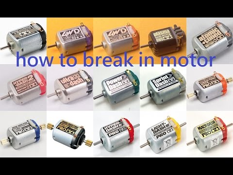 Tamiya Mini 4wd Tutorial How To Break In A Brand New Motor