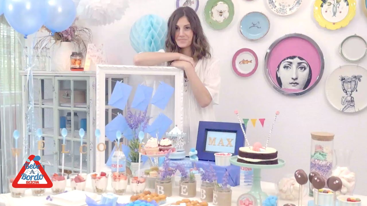 C mo preparar un baby shower youtube - Deco baby shower garcon ...