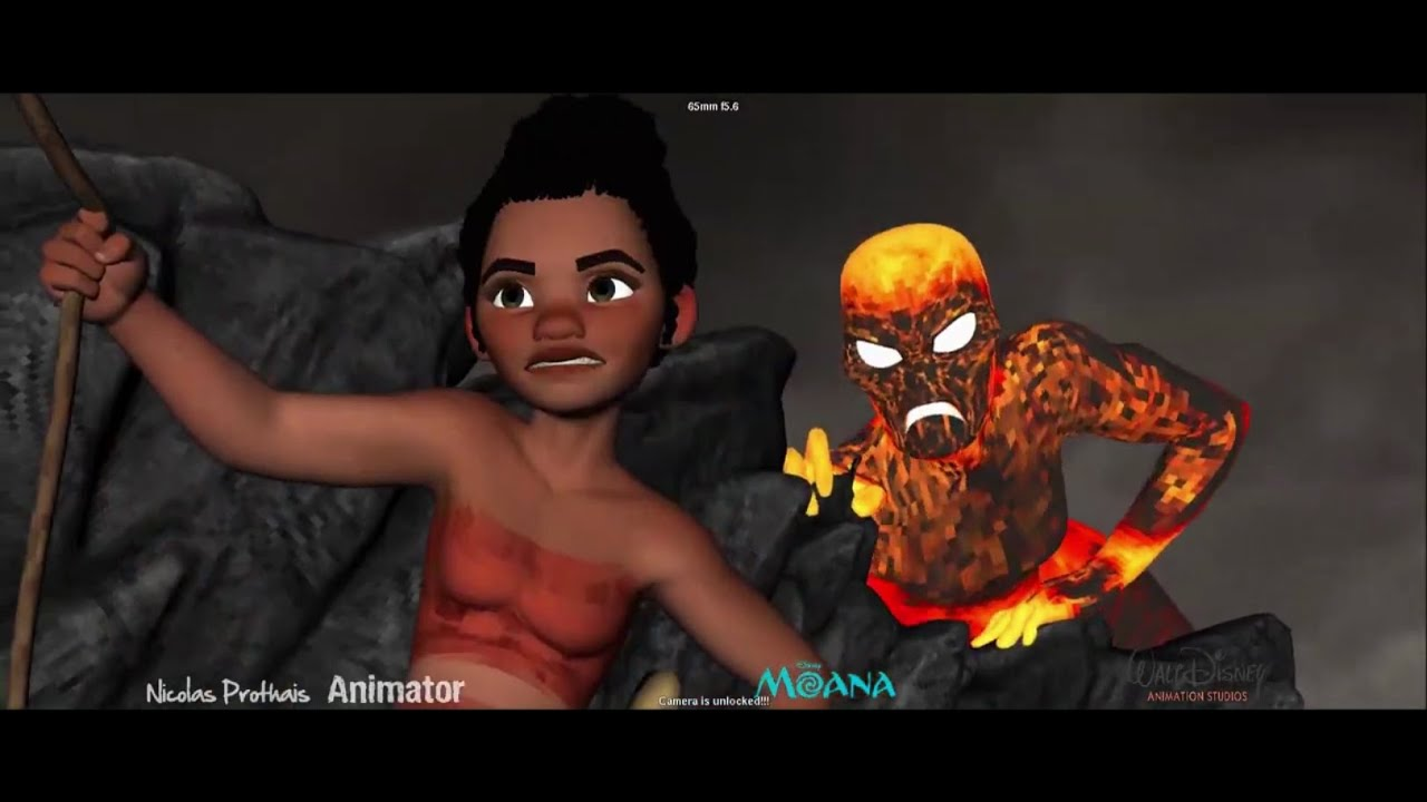 Moana I Moana and Teka Shot Progression I Nicolas Prothais I 3D Animation Internships