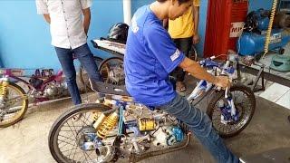 Sirius độ Drag 7 màu (200cc) mạnh khủng khiếp ở Indonesia