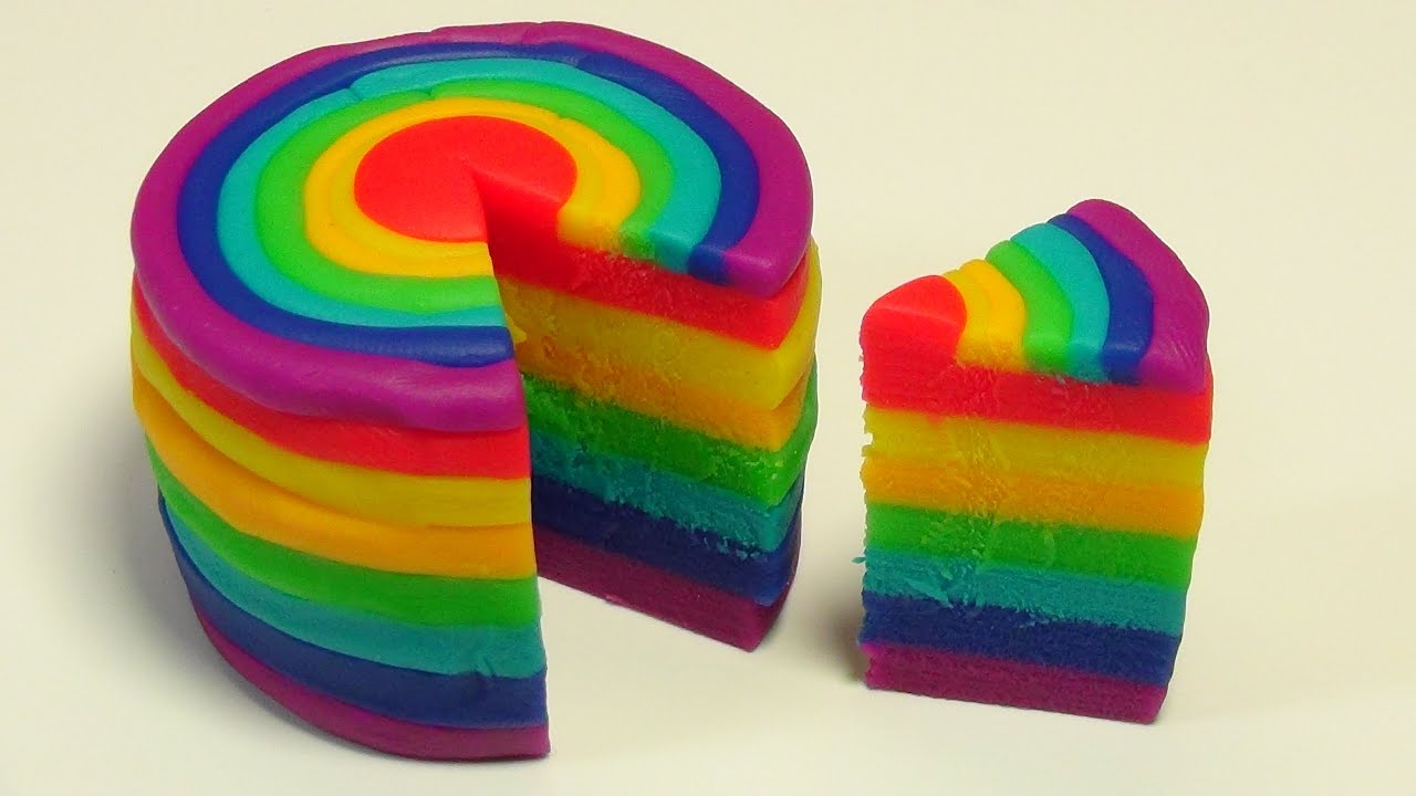 How To Make A Play Doh Rainbow Cake