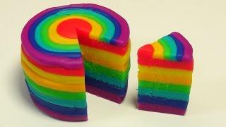 Make a Playdoh Rainbow Cake. How to make a Playdoh Rainbow cake. How to make a rainbow Playdoh cake.