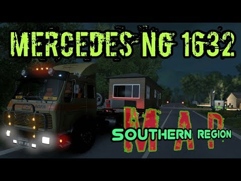 ETS 2 Mercedes NG 1632 - Southern Region MAP - OFFROAD ACTION