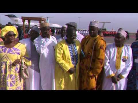 President Adama Barrow arrives in The Gambia