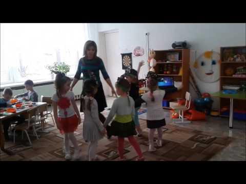 Физминутка Ёлочки в средней группе детского сада