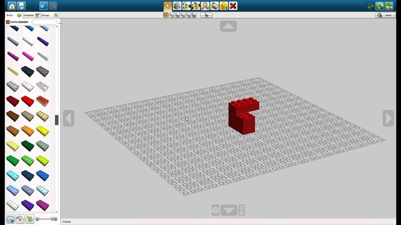 lego digital designer basic brick building tutorial youtube. Black Bedroom Furniture Sets. Home Design Ideas