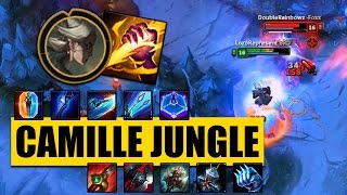 NEW CHAMPION CAMILLE JUNGLE GAMEPLAY (Jungle Clear & Item Build) - League of Legends