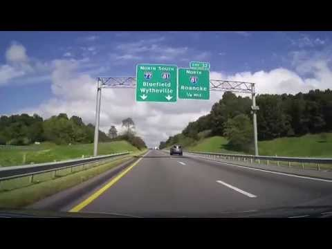 Driving on I77 from North Carolina Border to Wytheville, Virginia