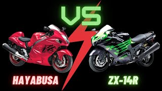 Hayabusa Vs ZX14R | Who is King of the Sportsbikes?