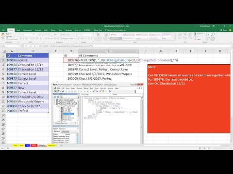 Mr Excel & excelisfun Trick 183: Lookup and Return Multiple Items And Join Them In Single Cell