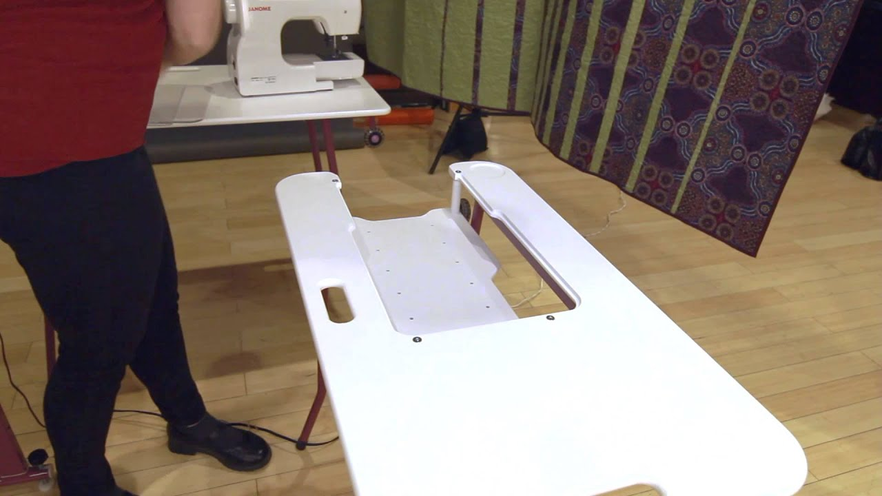 SewEzi Table Solid Wooden Insert Accessory - YouTube