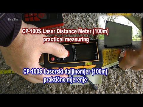 CP-100S Laser Distance Meter (100m) practical measuring, CP-100S praktično mjerenje