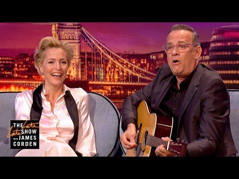 Gillian Anderson & Tom Hanks Face their Fears - #LateLateLondon