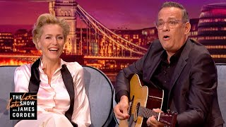 Gillian Anderson & Tom Hanks Face their Fears - #LateLateLondon