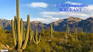 Sergeant  Nature & Naturaleza - Happy Birthday