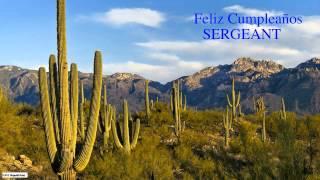 Sergeant  Nature & Naturaleza - Happy Birthday