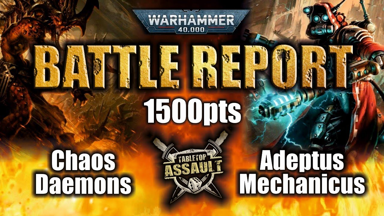 *NEW 9th Edition* Chaos Daemons vs Adeptus Mechanicus 1500pts Battle Report