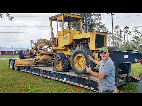 FIRST Drive in YEARS For Abandoned Motor Grader Almost Ends in DISASTER!