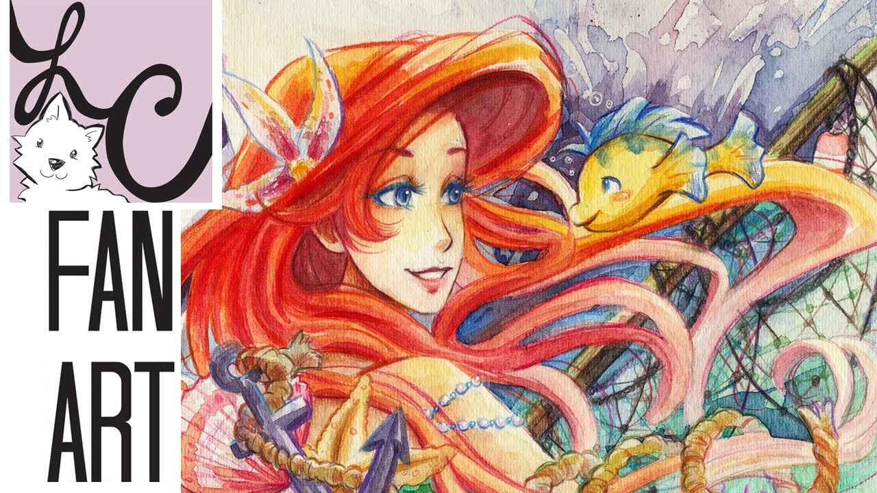 Ariel from The Little Mermaid Fan
