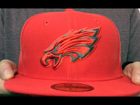 Eagles  NFL TEAM-BASIC  Fire Red-Charcoal Fitted Hat by New Era - YouTube 1f933c3963b0