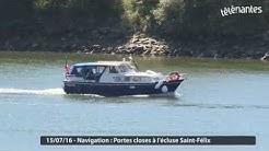 Navigation : portes closes à l'écluse Saint-Félix