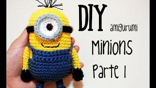 DIY Minions Parte 1 amigurumi crochet/ganchillo (tutorial)