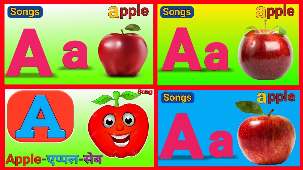 A for apple b for ball c for cat,alphabet,abc song,abcd,phonics song,Hindi Alphabet,part71