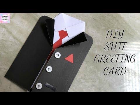 DIY Greetings Card / DIY Father's Day Card /DIY Suit-Tuxedo Greeting Card